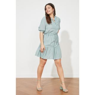 Trendyol Mint Fabric Textured Binding Detail Dress dámské 34