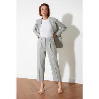 Trendyol Mint Flat Cut Trousers dámské 34