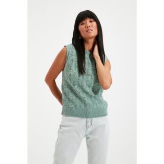 Trendyol Mint Knitted Detailed Knitwear Sweater dámské Other M