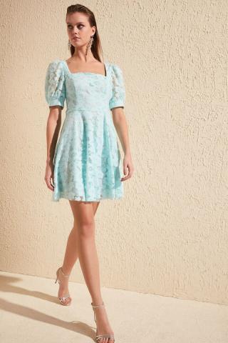 Trendyol Mint Lace Dress dámské 34