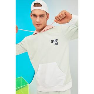 Trendyol Mint Mens Regular Fit Sweatshirt pánské S