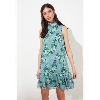 Trendyol Mint Ruff Detailed Dress dámské 34