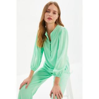 Trendyol Mint Woven Viscose Pajamas Set dámské Other 34