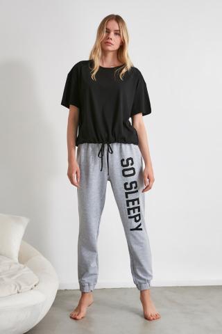 Trendyol Motto Knitted Pyjamas Kit dámské Multi L