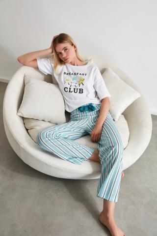 Trendyol Motto Knitted Pyjamas Set dámské Multi M
