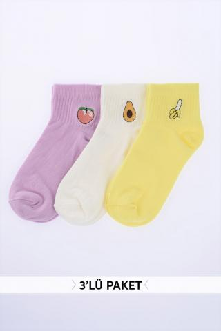 Trendyol Multi-Color Embroidered Knitted Socks dámské One size