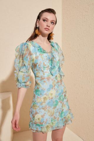 Trendyol Multi-Color Frill Detailed Dress dámské 42