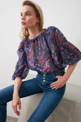 Trendyol Multi-Color Frilled Blouse dámské 34