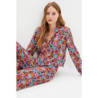 Trendyol Multi Colored Viscose Woven Pajamas Set dámské Other 34
