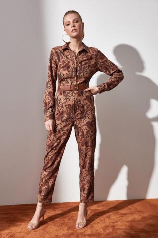 Trendyol Multicolor Belt Patterned Jumpsuit dámské 40