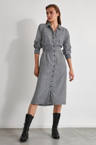 Trendyol MultiColor Gipe Detailed Shirt Dress dámské 34