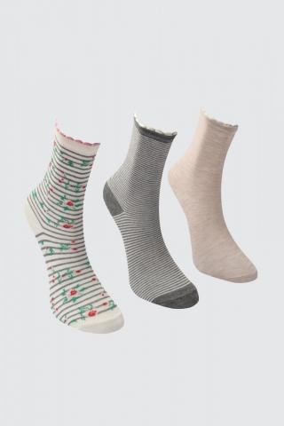 Trendyol Multicolor Patterned 3 Pack Knitted Socks dámské One size