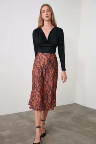Trendyol Multicolor Printed Satin Skirt dámské 34