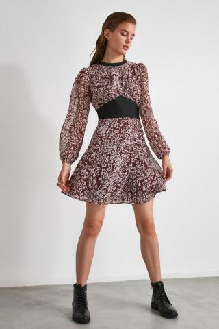 Trendyol MultiColor Waist Detailed Patterned Dress dámské 34