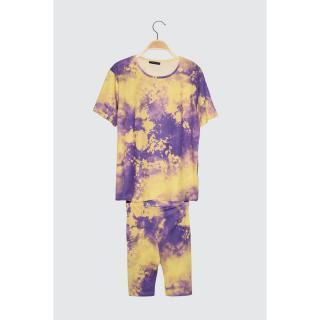 Trendyol Multicolored Batik Patterned Knitted Top-Top Tool dámské S