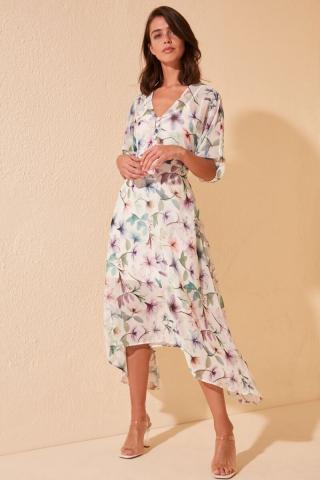 Trendyol Multicolored Belt Dress dámské 34
