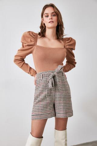 Trendyol MulticolorEd Belt Shorts & Bermuda dámské 34
