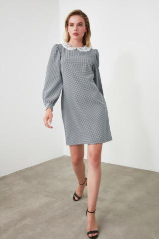 Trendyol MultiColored Brode Collar Dress dámské 34