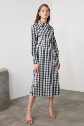 Trendyol MultiColored Carat Shirt Dress dámské 34