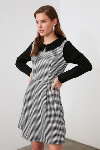 Trendyol Multicolored Collar Detailing Dress dámské 34