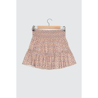 Trendyol Multicolored Floral Patterned Mini Knitted Skirt dámské XS