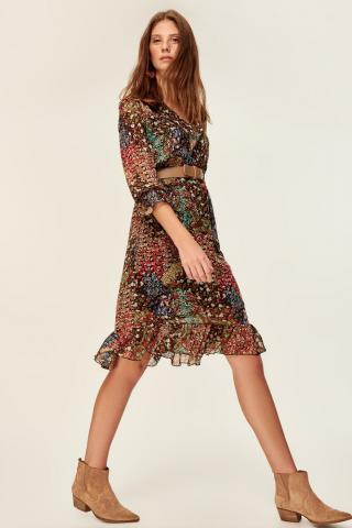 Trendyol Multicolored Frill Detailed Dress dámské 34