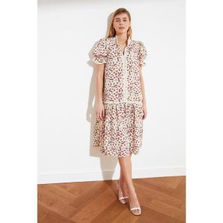 Trendyol Multicolored Lace Detailed Dress dámské 34