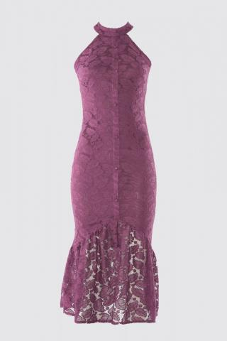 Trendyol Multicolored Lace Dress dámské Plum 34