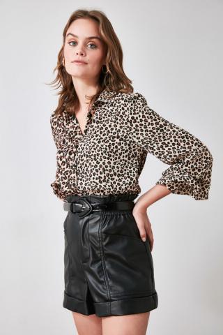Trendyol Multicolored Leopard Print Shirt dámské 34