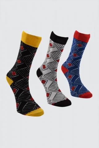 Trendyol MultiColorEd Mens Jacquard 3 Pack Socket Socks pánské One size