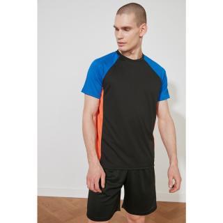 Trendyol MulticolorEd Mens Regular Fit Bike Collar Short Sleeve T-Shirt pánské S