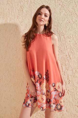 Trendyol Multicolored Patterned Dress dámské 34