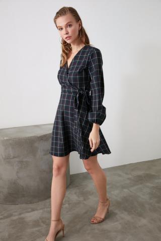 Trendyol MultiColored Plaid Dress dámské 34