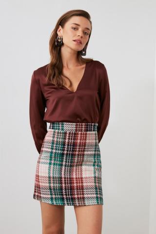 Trendyol Multicolored Plaid Skirt dámské 34