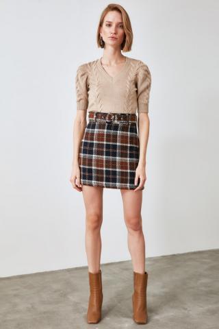 Trendyol Multicolored Plaid Skirt dámské 36