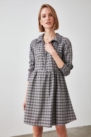 Trendyol Multicolored Shirt Collar Dress dámské 34
