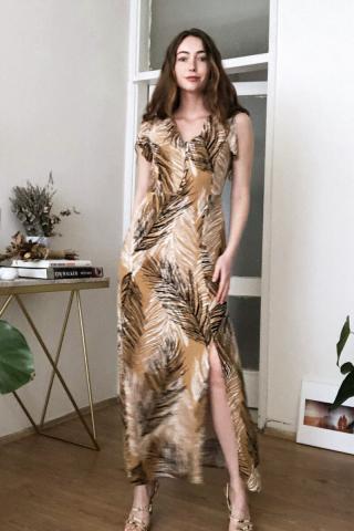 Trendyol MultiColored Slit Detailed Dress dámské 34