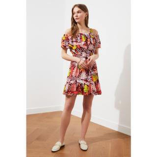 Trendyol MulticolorEd Strap Flywheel Dress dámské 34