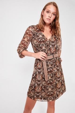 Trendyol Multicolored Waist Detailed Dress dámské 36