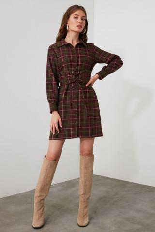 Trendyol Multicolored Waist Detailing Dress dámské 34