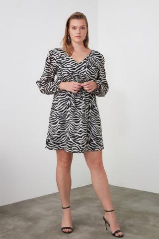 Trendyol Multicolored Waist Smuz Dress dámské 34