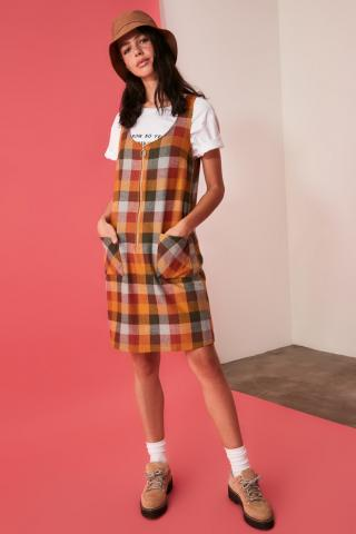 Trendyol Multicolored Zipper Detailed Dress dámské 34