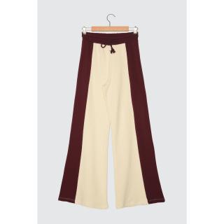 Trendyol Mürdüm Culotte Striped Knitted Tracksuit bottom dámské Plum XS