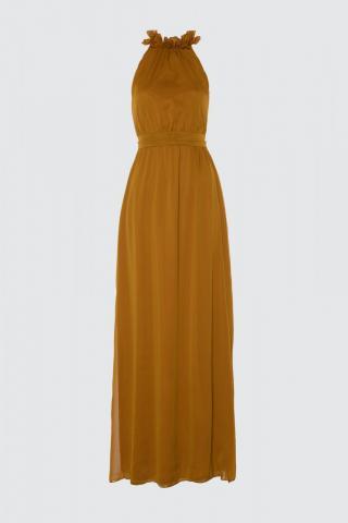 Trendyol Mustard Neck Detailed Evening Dress & Graduation Dress dámské 34