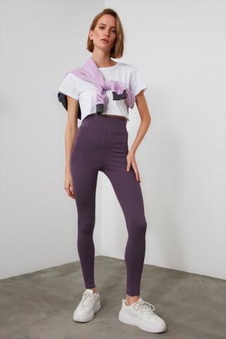 Trendyol Mydm High Waist Picker Knitted Tights Plum XS