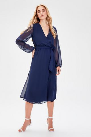 Trendyol Navy Blue Belt Cruise Dress dámské 34