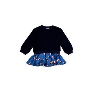 Trendyol Navy Blue Garni Girl Knitted Dress dámské Other 6-7 Y
