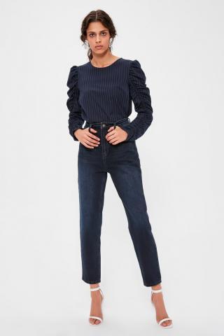 Trendyol Navy Blue High Waist Mom Jeans dámské 34