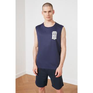 Trendyol Navy Blue Male Oversize Fit Zero Arm Athlete S