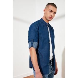 Trendyol Navy Blue Male Slim Fit Judge Collar Shirt S